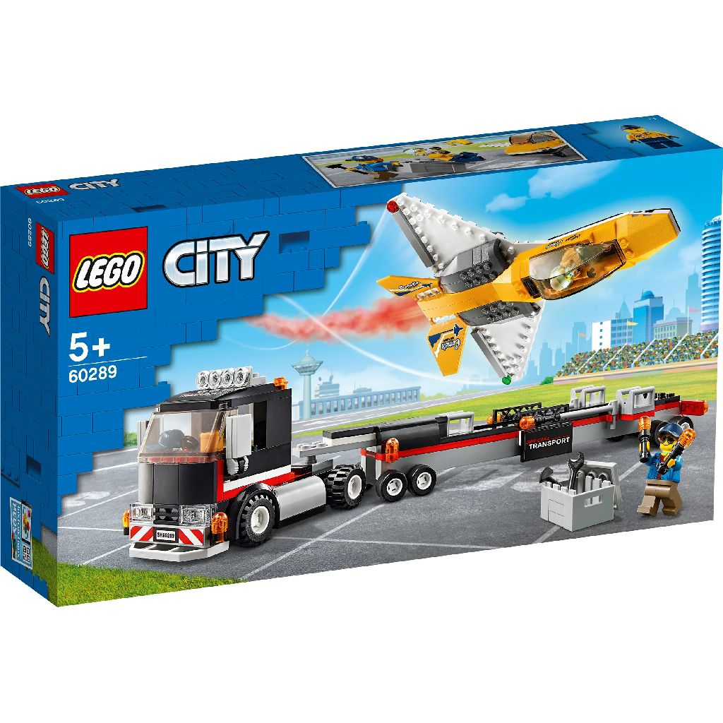 【2021.1月新品】LEGO 樂高積木 City Great Vehicles 60289 空中特技噴射機運輸車