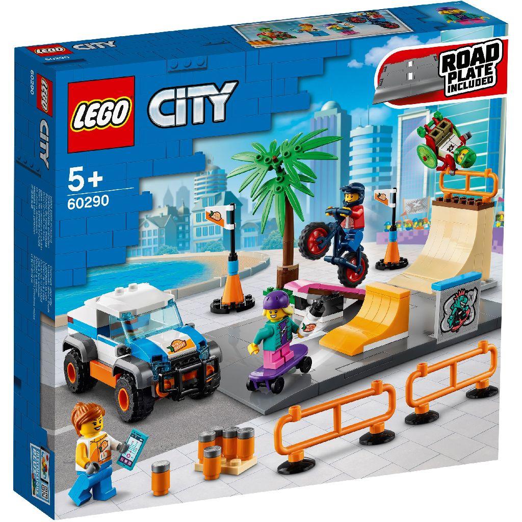 【2021.1月新品】LEGO 樂高積木 My City 60290 滑板公園