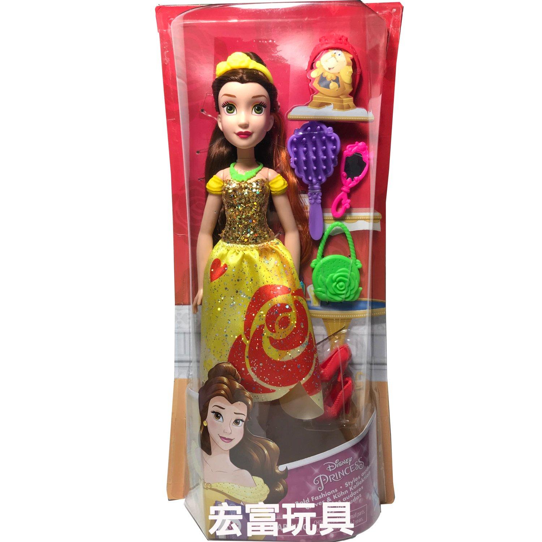 迪士尼公主與配件組 美女與野獸 貝兒