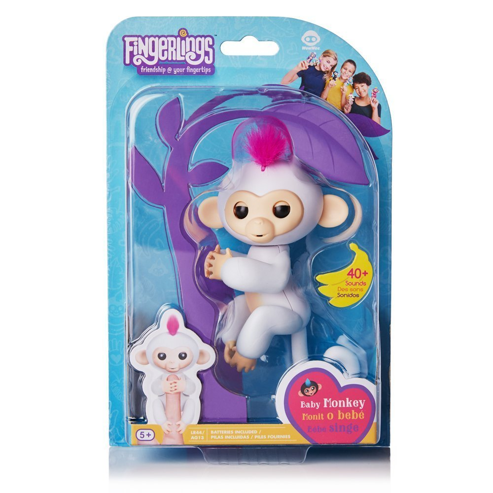 互動寵物猴 手指猴 白 【特價品】