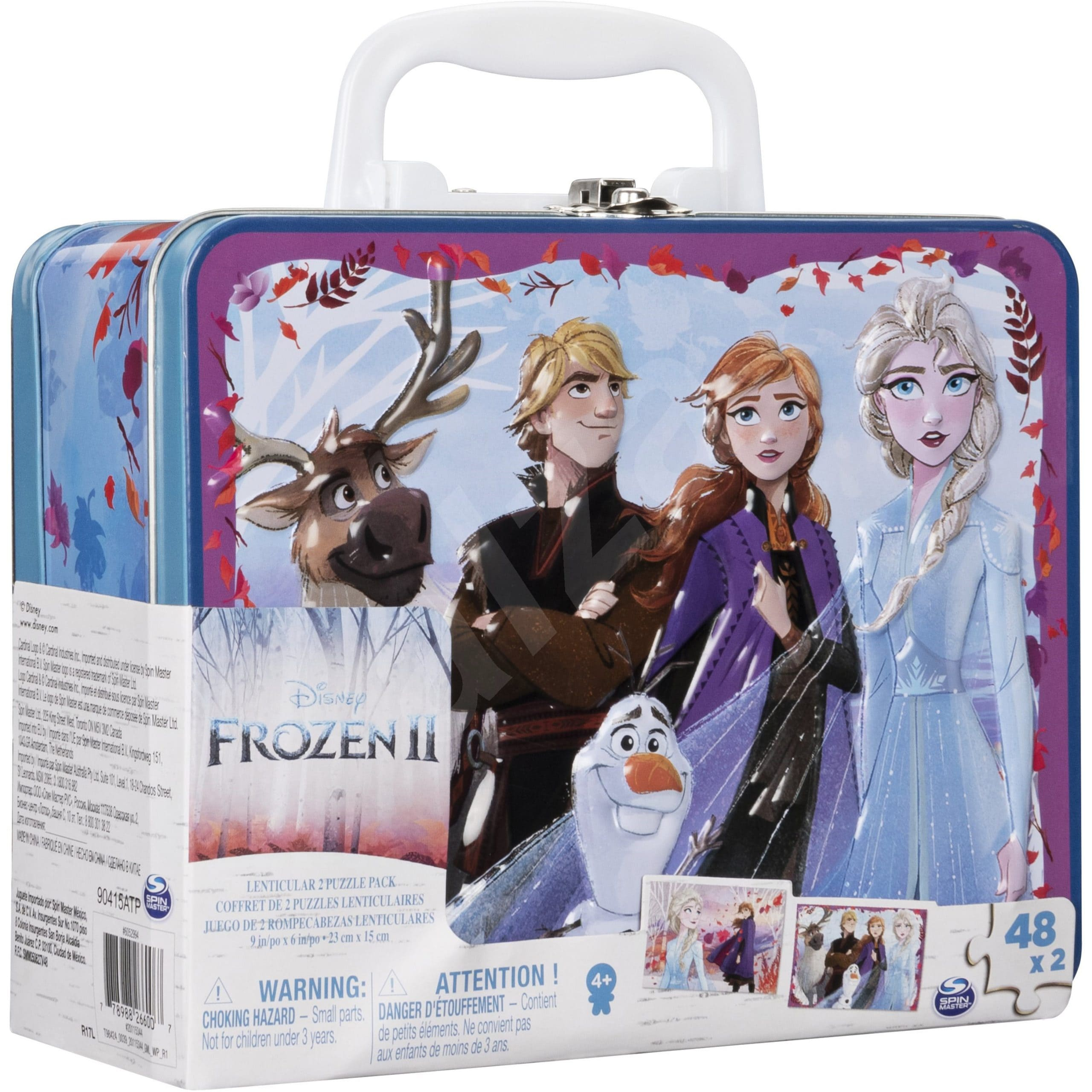 冰雪奇緣2 3D手提鐵盒拼圖