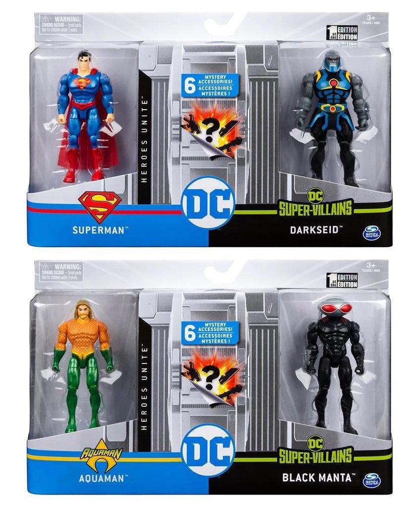DC 4吋人偶對抗組合包 SUPERMAN DARKSEID+AQUAMAN BLACK MANTA