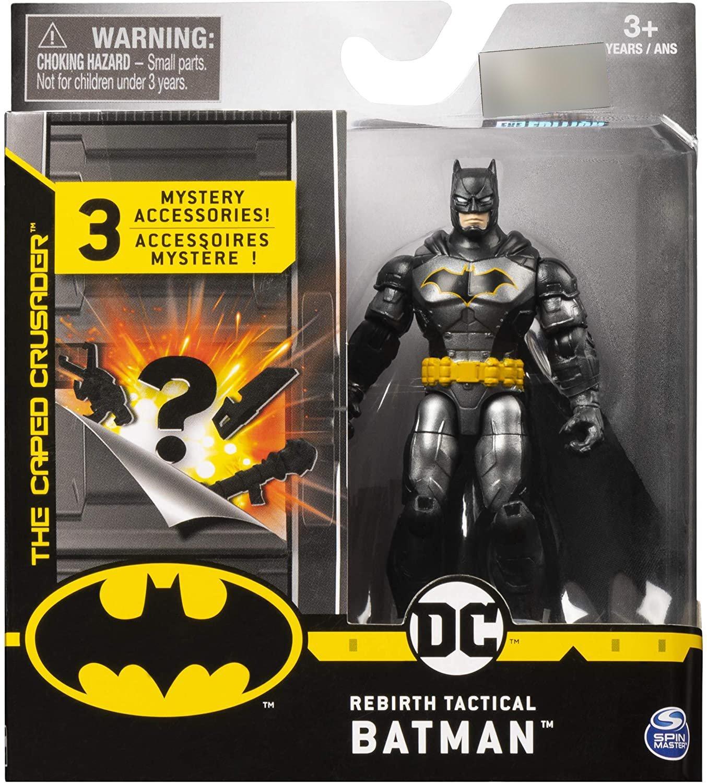 Batman 4吋蝙蝠俠可動人偶 BATMAN 銀黑