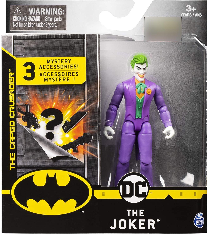 Batman 4吋蝙蝠俠反派可動人偶 JOKER