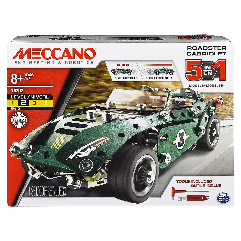 MECCANO 金屬組合模型 #18202 五合一回力車組