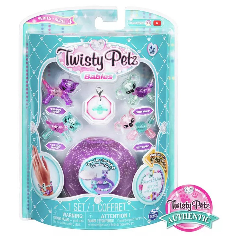 Twisty Petz 寵物扭扭手鍊 迷你寶貝四入組