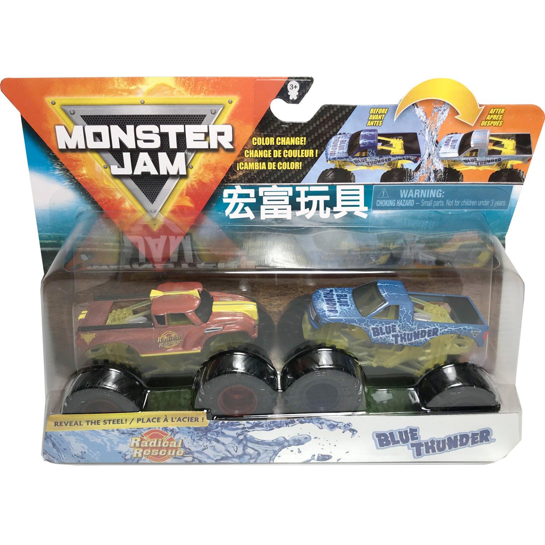 怪獸卡車 1:64合金車輛 二入組