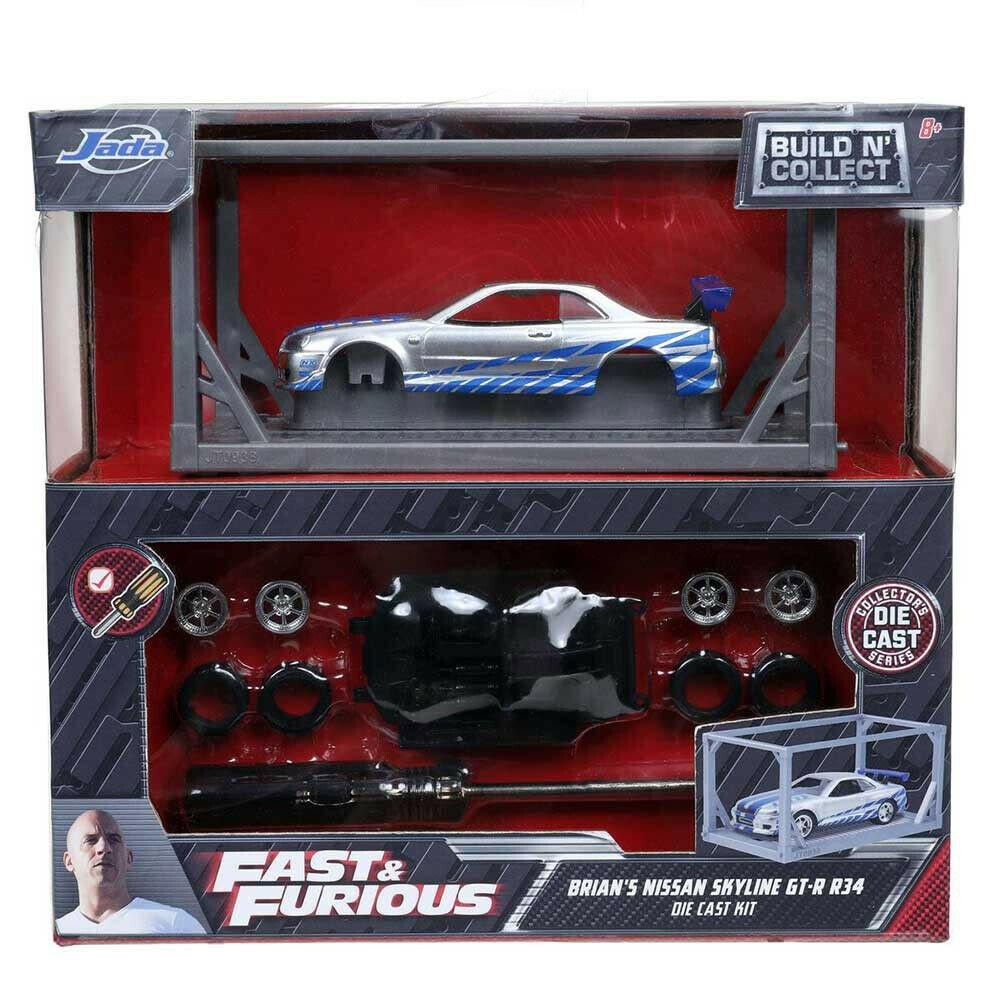 玩命關頭 1:55 拼裝合金車 2002 Nissan Skyline GT-R R34 Silver