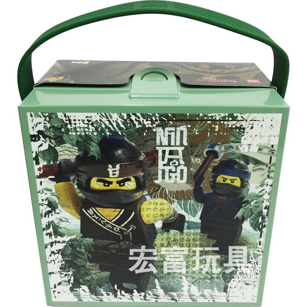 LEGO積木收納展示系列 樂高忍者電影 手提式置物盒