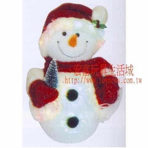聖誕節 10吋 光纖雪人